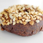 Chocolate Frosted Peanut Topped Chocolate Cake Donut