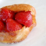 Fresh Strawberry Stuffed Donut