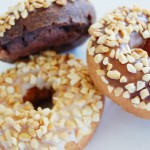 Peanut Topped Assorted Cake Donuts