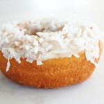 Vanilla Frosted Coconut Cake Donut